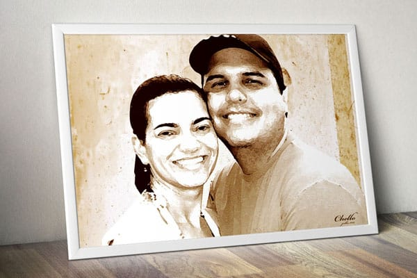 fotorafia de casal numa moldura